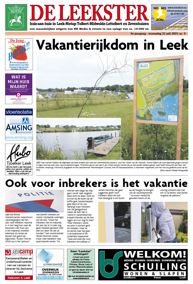 HRMedia & events - De Leekster juli 2021