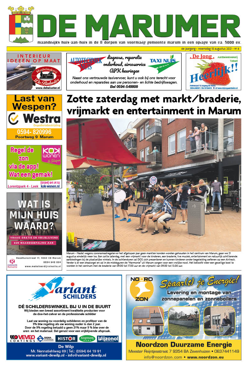 HRMedia & events - De Marumer augustus 2021